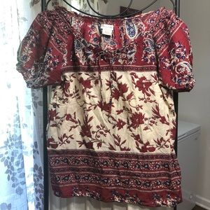 Monroe & Main 1x Paisley Light Weight Top
